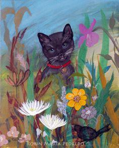 """""""Cat in the Garden"""" #cat #garden http://robinmariapedrero.com/"""