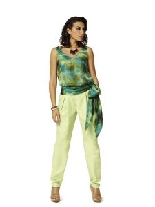 burda style: Damen - Kombinationen - Kombination: Blazerjacke, Shirt & Hose