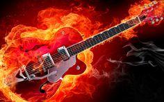 Electric Guitar Wallpaper For Desktop Hd Background - HD Wallpapers