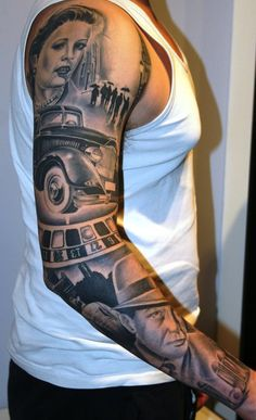 tatoo mafia thème | gangster theme sleeve by tattoomini on DeviantArt