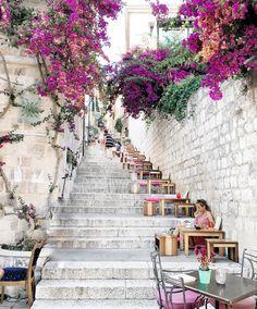 Stairway to heaven ~ Hvar Island, Croatia Photo: Amazing! Dubrovnik, Pula, Montenegro, Wonderful Places, Beautiful Places, Beautiful Buildings, Amazing Places, Hvar Island, Croatian Islands