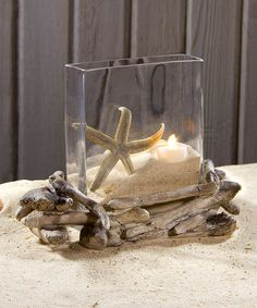 Loving this Driftwood Candle Ring & Vase on #zulily! #zulilyfinds