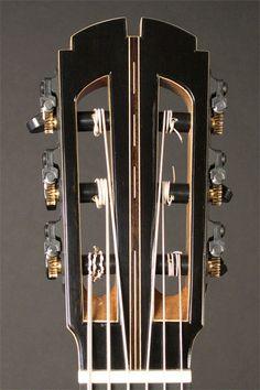 Gregory Miller Guitars Contrabass headstock