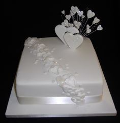 single layer wedding cake - Google Search(This is our cake. A coworker that makes AMAZING cakes is making it as a gift!)