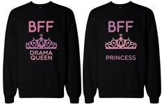 BFF Matching sweatshirts, designed and printed in USA. If you are looking for a high quality matching sweatshirts, this is it! Made in USA, our couples matching sweatshirts are individually printed using a digital printer and quality is assured. Best Friend Sweatshirts, Best Friend T Shirts, Bff Shirts, Best Friend Outfits, Couple Shirts, Best Friend Gifts, Best Friends, Friends Shirts, Matching Outfits