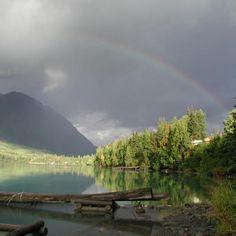 Rainbow Over a Glassy Inlet, Homer, Alaska