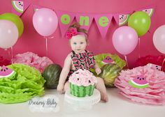 #cakesmash #watermelon  #firstbirthday