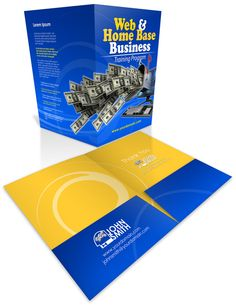 99Tasks.com - Concept - Presentation folder Presentation Folder, Home Based Business, Training Programs, Psd Templates, Mockup, Brochure Design, Banners, Photoshop, Concept