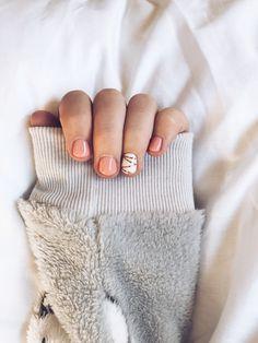 nails | pink | geometric | white | gel