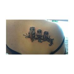 Marvelous Owl Tattoos Designs that are a symbol of Wealth ❤ liked on Polyvore featuring accessories and body art