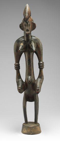 Female Poro Altar Figure (Ndebele), 19th–mid-20th century  Côte d'Ivoire; Senufo  Wood, pigment. The Metropolitan Museum of Art, New York