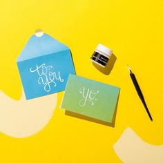 Learn how to DIY your own calligraphy at home with this Brit + Co DIY Kit, available exclusively at Target. http://go.brit.co/2oPEW3x