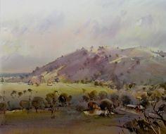 Ross Paterson, Balmattum x Aug Gouache Painting, Watercolor Landscape, Watercolour Painting, Landscape Paintings, Australian Painting, Australian Artists, Virtual Art, Nature View, Country Scenes