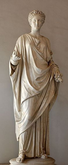 Flora (Chloris), Roman statue (marble), 1st–2nd century AD, (Musei Capitolini, Rome).