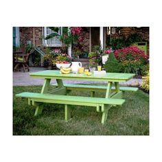 Berlin Gardens Clic Poly Picnic Table 1 394 Liked On Polyvore Featuring Home