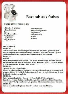 Bavarois aux fraises Dessert Companion, I Companion, Thermomix Ou Companion, Mini Quiches, Tupperware, Strawberries, Dessert Recipes, Bavarian Recipes, Tub