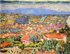 Pierre Bonnard - View of Le Cannet, Roofs, 1941-1942, oil on canvas