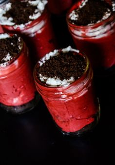 What's Up Buttercup: Red Velvet No Bake Cheesecake Pots