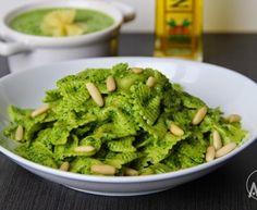 Těstoviny se špenátovou omáčkou ( pastou )