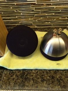 """Ikea 5"""" salad bowls turned into great looking speakers."""