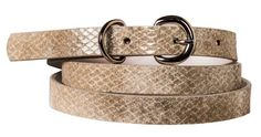 Womens Stylish Reptile Print Skinny Bonded Sleek Leather Belt - List price: $37.99 Price: $12.99 Saving: $25.00 (66%) + Free Shipping