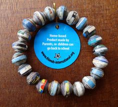 Paper Beads Bracelet handmade in Cambodia, Fair Trade and Child Safe certified $8.99