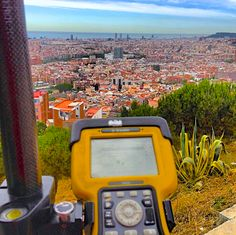 @loraimon enjoying a beautiful view while working on a Topographic Survey in Torre Baro, Barecelona, Spain. #surveylife