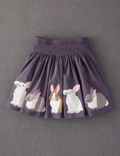 Appliqué Skirt what little girl doesn't love bunnies? #boden #magicalmenagerie