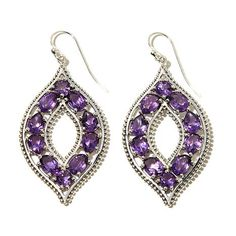 Himalayan Gems™ Multi-Cut Gemstone Marquise-Shaped Drop Earrings - 7661953 | HSN