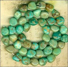 """Mexican Campo Frio TURQUOISE Beads 16"""" Genuine Natural Blue/Green Color"""