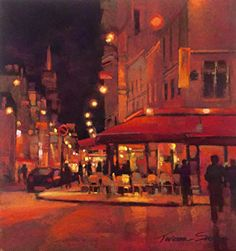 Paris-Night by Teresa Saia Pastel