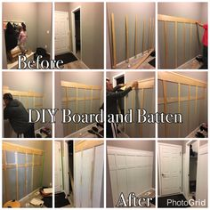 Change up your plain walls with this DIY Board and Batten! Easy to install as long as your measurements are right