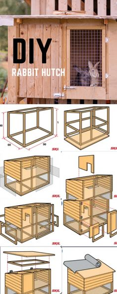 It's easy to build your own rabbit hutch. A good rabbit hutch provides shelter, is easy to clean and resists moisture. In this step-by-step plan we tell you exactly how to build a rabbit hutch yourself >>