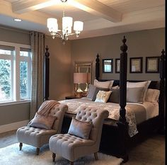 Stunning dark wood bedroom furniture ideas - Diy Tutorials - The Effective Pictures We Offer You About Master Bedrooms design A quality picture can tell you ma - Romantic Master Bedroom, Modern Master Bedroom, Master Bedroom Makeover, Master Bedroom Design, Dream Bedroom, Home Bedroom, Bedroom Apartment, Contemporary Bedroom, Girls Bedroom