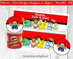 Pokemon Mini Pringles Wikkels