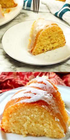Glazed Lemon Ricotta Cake is made in a bundt pan. It's extremely moist and tender thanks to the ricotta cheese in the batter. Glazed Lemon Ricotta Cake is made in a bundt pan. It's extremely moist and tender thanks to the ricotta cheese in the batter. Lemon Recipes, Sweet Recipes, Baking Recipes, Food Cakes, Cupcake Cakes, Cupcakes, Lemon Ricotta Cake, Moist Lemon Pound Cake, Lemon Chiffon Cake