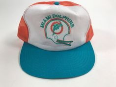 Vintage Competitor Team NFL Miami Dolphins Side Block Snapback Trucker's Hat HTF #CompetitorTeamNFL #MiamiDolphins