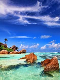Travel around the world seychelles islands!  It'd be a long trip- but it's my dream of dreams!