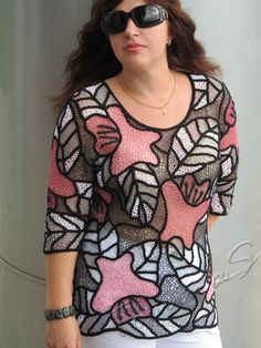 """Herbarium"" (crochet, crocheting top, crochet tunic, irish lace)"