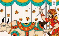 Indian Folk Art Sketchbook Illustration by Atma Studios