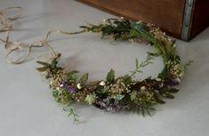 Ivy Vine Woodland Bridal Headwreath flower crown Wedding hair Accessories Rustic Barn wedding headband dried floral hair wreath Headdress