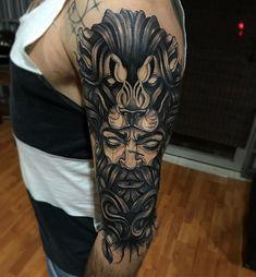 "Francisco Alvarado on Instagram: ""Leonel"" Hercules Tattoo, Sleeve Tattoos, Instagram, Ideas, Tattoo Sleeves, Thoughts, Arm Tattoo, Arm Tattoos, Shoulder Sleeve Tattoos"