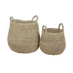 Arabella Chevron Basket - Rattan