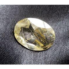 Rutile Quartz Bead/ Rutile quartz Stone/ Faceted by gemsforjewels, $12.10