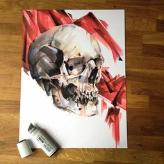 How to Draw a Skull with WIDE Markers | Copic by Ryan Spahr
