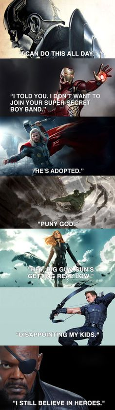 No one can say it better than an Avenger.