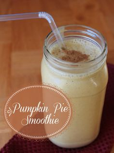 Pumpkin Pie Smoothie recipe 213 calories and 6 weight watchers points plus
