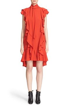 LANVIN Ruffle Washed Techno Crepe Dress. #lanvin #cloth #