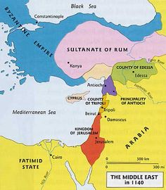 Map: The Middle East in 1140