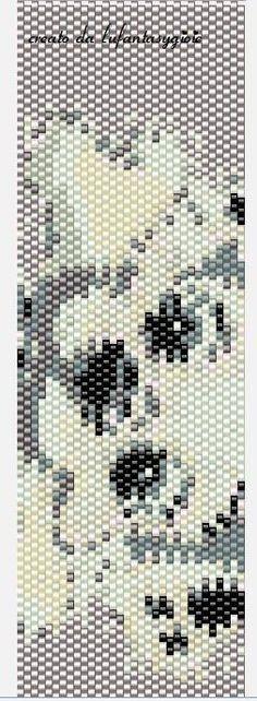 I peyote di Lufantasygioie: Pattern peyote:cane con osso